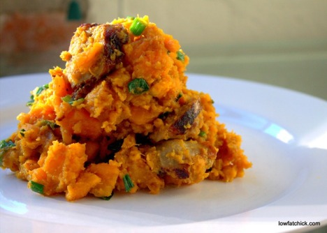Sweet Potato and Italian Sausage Hash web