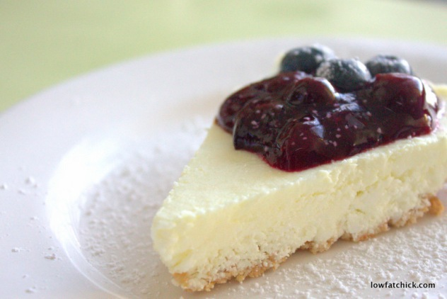 Lowfat Blueberry Cheesecake
